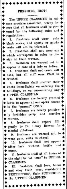 DT 1908.10.03.Freshman Rules.1.