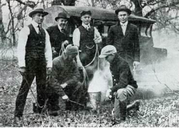 Bevo Branding Crew.Feb 1917.