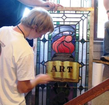 4.Ashbel Smith Window.Installation.Summer 2008