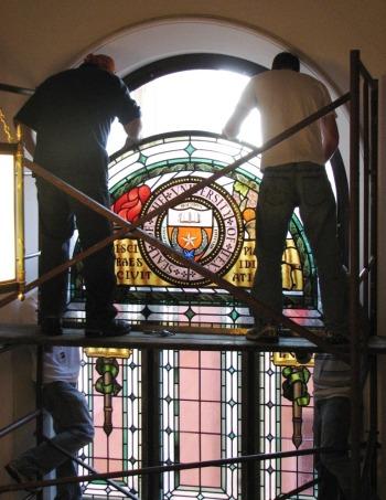7.Ashbel Smith Window.Installation.Summer 2008