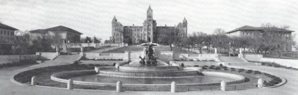 Littlefield Fountain and Old Main