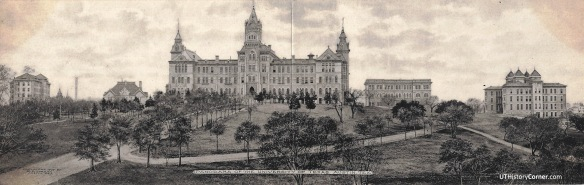 UT Panorama Postcard 1907.Black and White