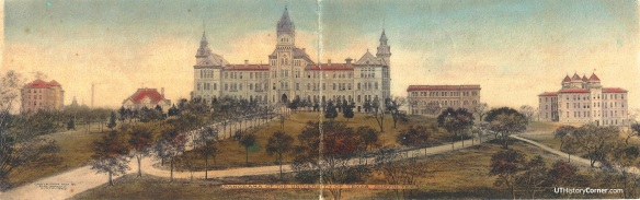 UT Panorama Postcard 1907.Color