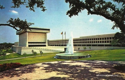 LBJ Library and Fountain.1970s