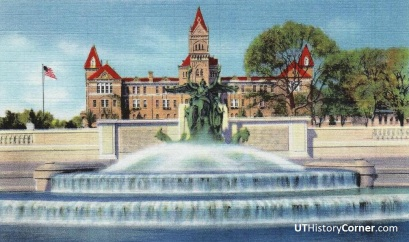 Old Main and Littlefield Fountain.1934