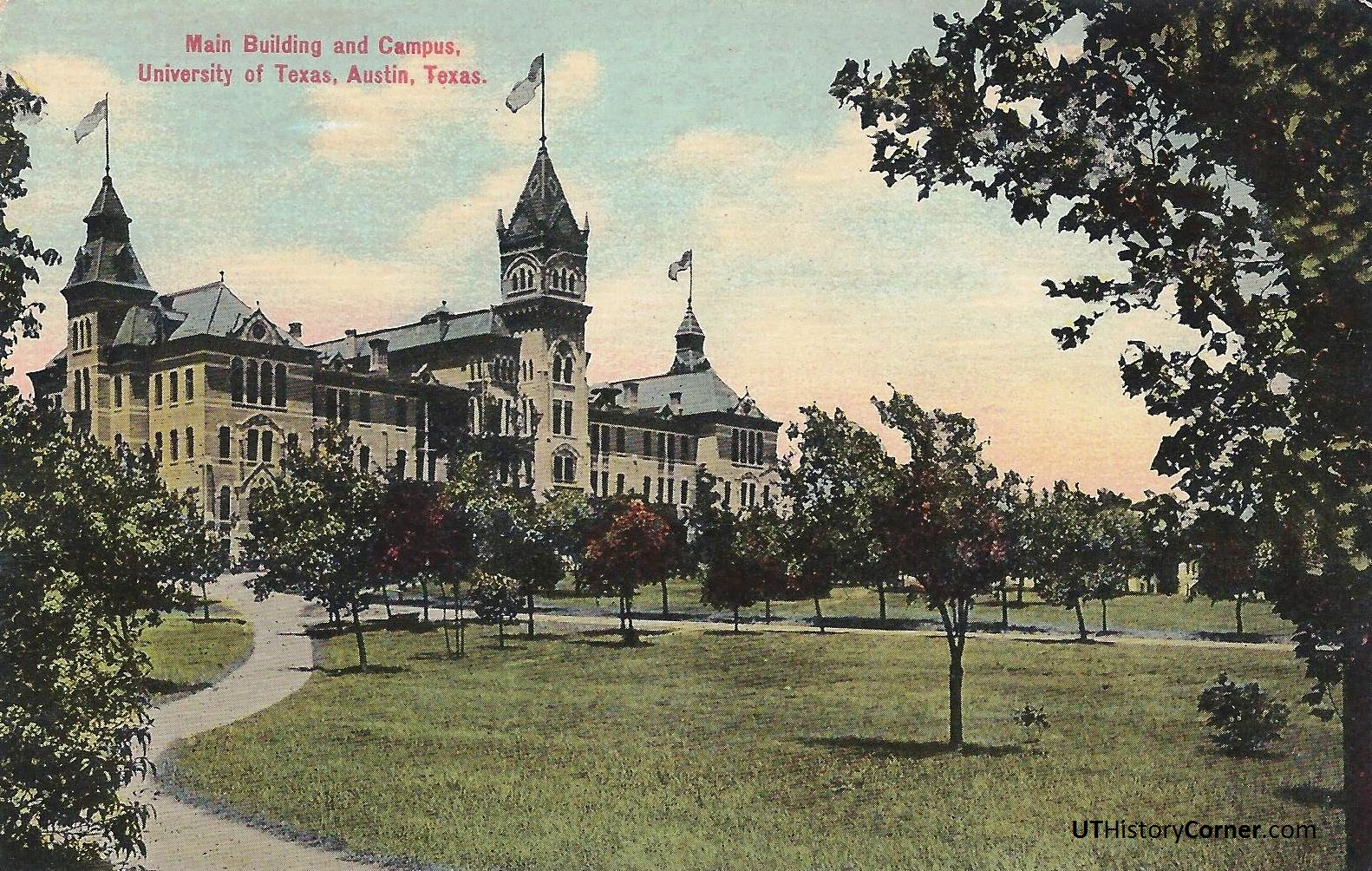 Postcards 1 1900 1920s The Ut History Corner