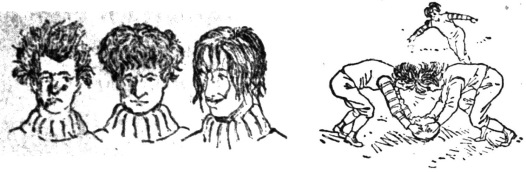 1890 Football Hairstyles.Dallas Times Herald