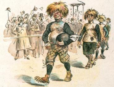 Puck Magazine.Thanksgiving 1894.Football