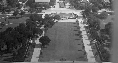 UT Tower Deck.South Mall View.1936