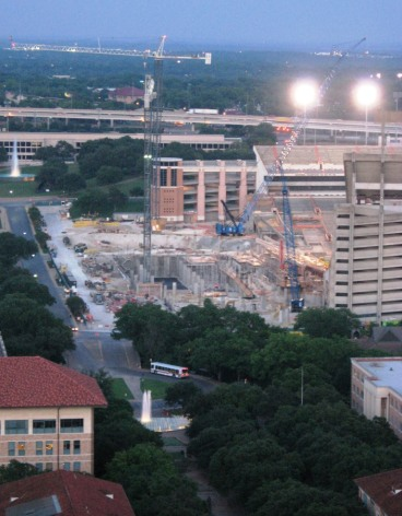UT Tower View.North End Zone Construction.May 2007