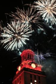 UT Tower Fireworks