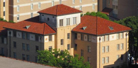 Brackenridge Hall from Tower Deck