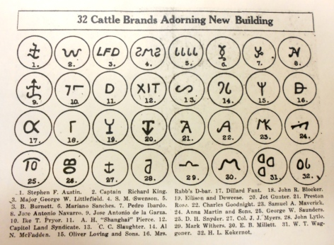 Garrison Hall.Cattle Brand List
