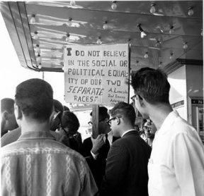 Pro Segregation Picket.Varsity Theater.Feb 12 1961