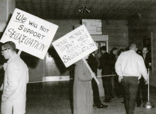 Texas Theater.Integration Picketers.