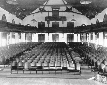 Old Main Auditorium.Out from stage.
