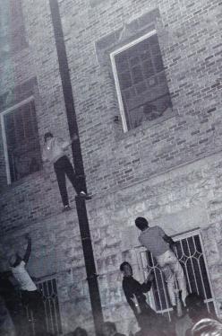 1961 Panty Raid.Littlefield Dorm