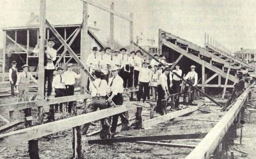 1907.Building Clark Field Stadium
