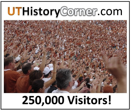 UT History Corner.250 Thousand Visitors