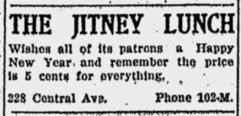 jitney Lunch ad