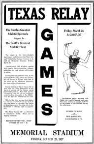 1927 Texas Relays Ad