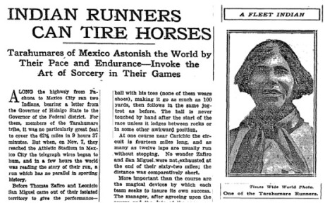 NYTimes Tarahumara Jan 17 1927