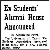 AAS.1961.Alumni House Announced