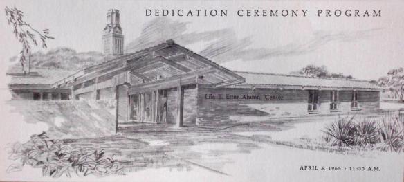 Alumni Center Dedication Program.Cover.April 1965