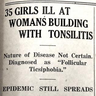 Follicular Ticsiphobia Headline