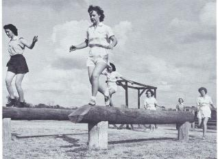 1943 WW II.Womens Obstacle Course
