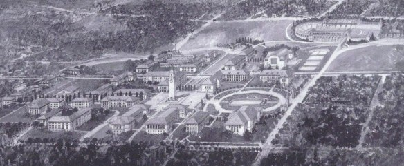 John White Birds Eye View.1920s Campus Plan