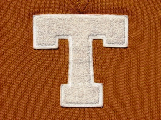 1928.UT Letter Sweater.T Close up