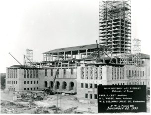Main Building and Tower Construction.1935