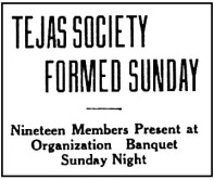 Tejas Society Formed