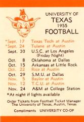 1955FootballSchedule
