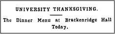 AAS.1891.11.26.University Thanksgiving Headline