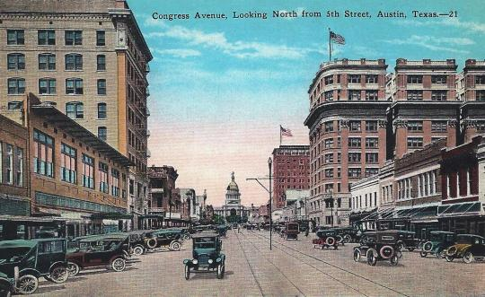 Austin.Congress Avenue.ca 1915