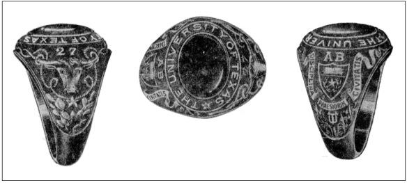 1927 UT Senior Class Ring