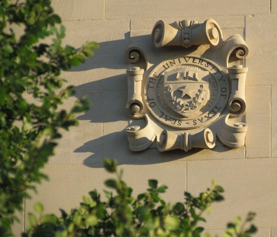 UT Seal.North Side of Main Building