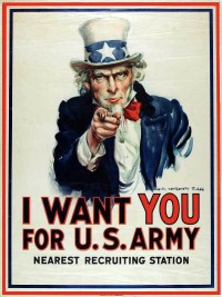 World War I.Recruitment.Uncle Sam