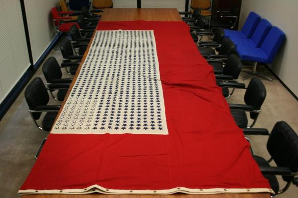 World War I Service Flag.Table View