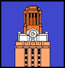 30.Tower.Light orange base.Orange and white top.