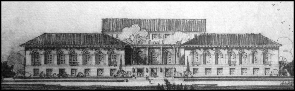 5.1926 proposed addition to Battle Hall library.