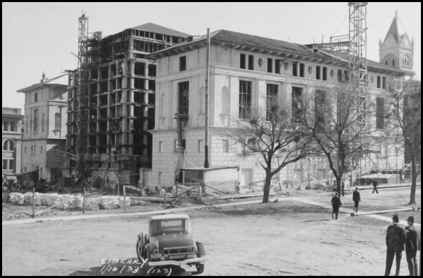 7.1933.Construction of Library Annex.Phase one of Main Building.